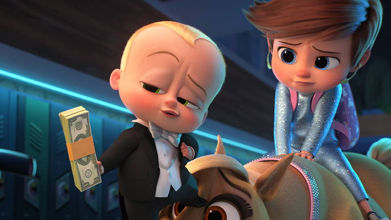 札束を振りかざして敵を買収しようとする赤ちゃん 「ボス・ベイビー」続編 場面写真公開